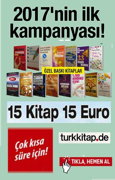 2017'nin Ilk Kampanyas&#305; <br />15 Kitap 15 Euro<br />Yeni Bir Ba&#351;lang&#305;&#231; i&#231;in Haz&#305;r m&#305;s&#305;n&#305;z