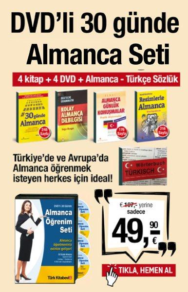 30 G&#252;nde DVD'li<br />Almanca &#214;&#287;renim Seti<br />(4 DVD, 4 Kitap,1 S&#246;zl&#252;k)<br />TV'deki Kampanyamiz