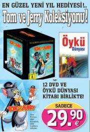 Tom Ve Jerry Koleksiyon Seti (Box-Set) 12 DVD + 1 Kitap Birarada