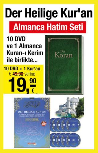 Der Heilige Koran -Almanca Hatim Seti (1 Almanca Kuran + 10 DVD)